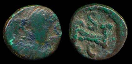 Ancient bronze coin of Ostrogothic king Athalric