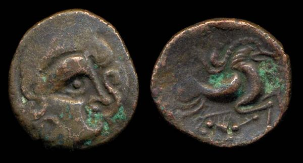 Ancient Celtic Channel Islands Armorican stater coin
