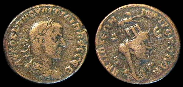 "Ancient ""Greek Imperial"" (Roman colonial) bronze coin of Roman Emperor Philip I from Antioch, Syria"