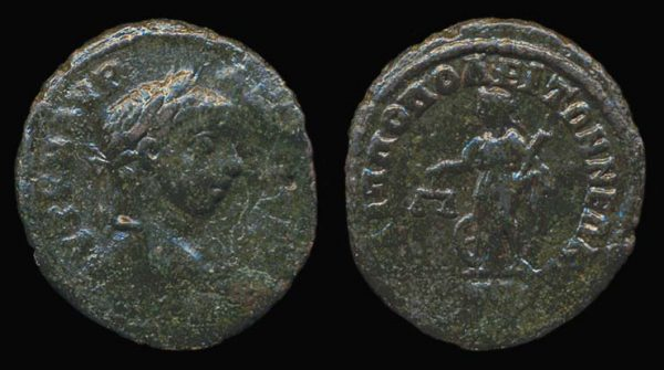 "Ancient ""Greek Imperial"" (Roman colonial) bronze coin of Roman Emperor Elagabalus from Philippopolis, Thrace"