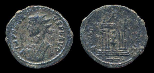 Ancient antoninianus coin of Roman Emperor Probus