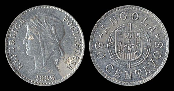 Coin of Portuguese colony of Angola