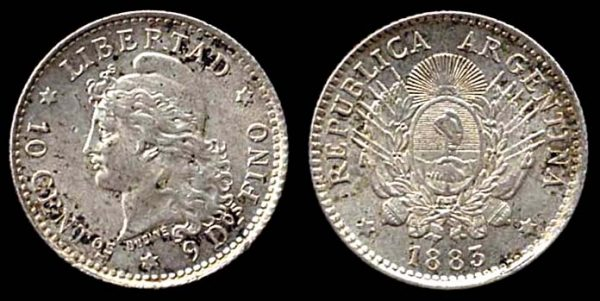 Silver coin of Argentina