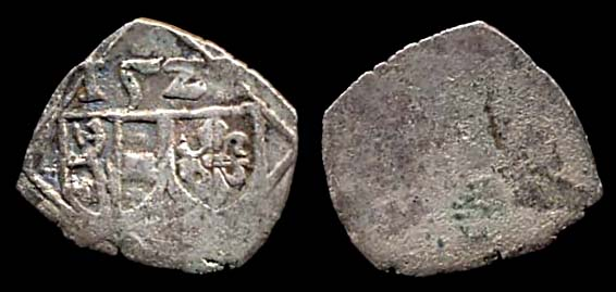 Small silver coin of Salzburg in Austria. 1522