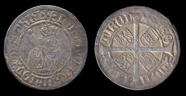 Medieval silver 6 kreuzer coin of Tirol in Austria