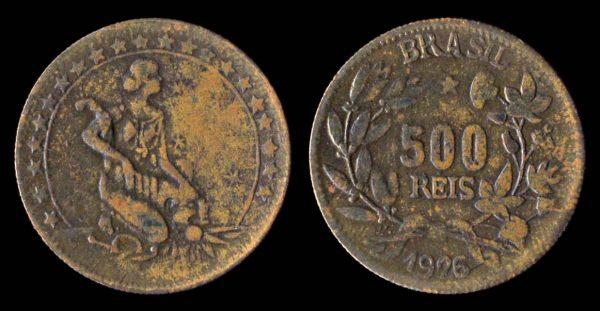 Brazil, 500 reis coin, 1926