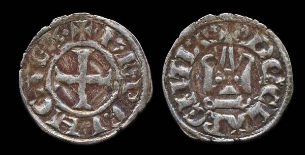 Crusader, Achaea, Charles II of Anjou, 1285-89, denier tournois coin