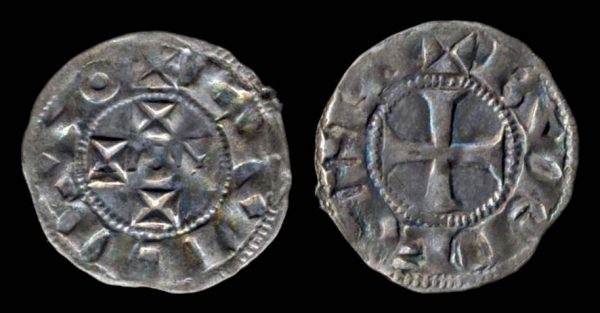 Medieval French silver coin of Aquitaine
