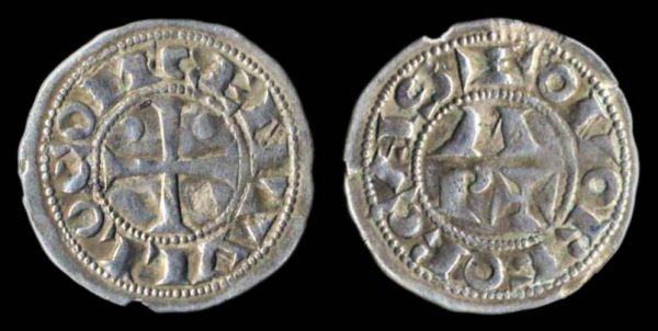 Medieval French silver coin of Bearn