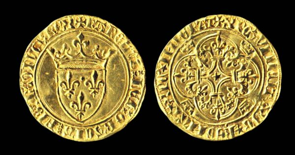 Medieval French gold coin, 1380-1422