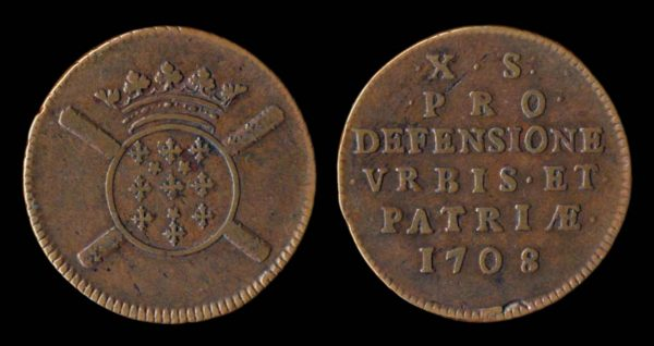 Medieval French copper coin of Lille