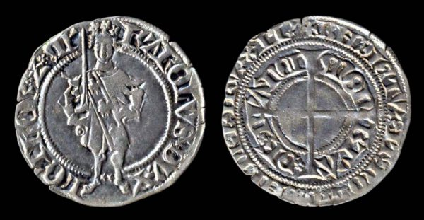 Medieval French silver coin of Lorraine