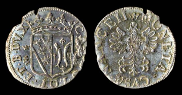 Medieval French billon coin of Lorraine