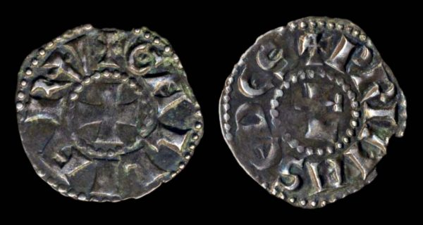 Medieval French silver coin of Lyon Archbishopric