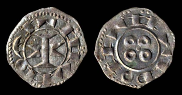 Medieval French billon coin of Melgeuil