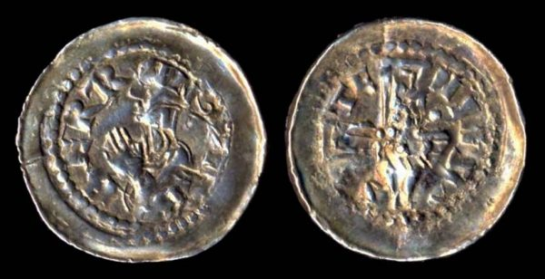Medieval French silver coin of Metz Bishopric
