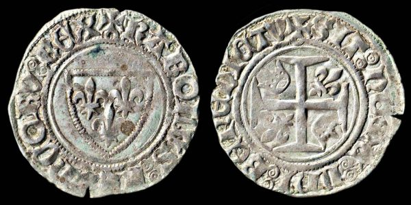 Medieval French billon coin, 1380-1422