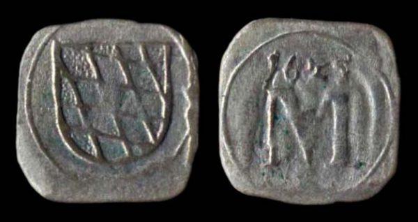 German state Bavaria, pfennig coin, 1625