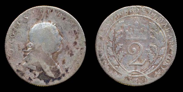 Silver coin of Essequbo & Demarary 1809, modern Guyana