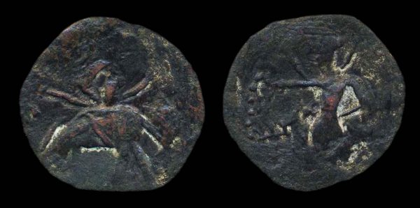 Ancient India Jouanjouan bronze coin