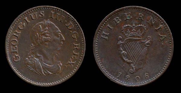 Ireland farthing coin 1806