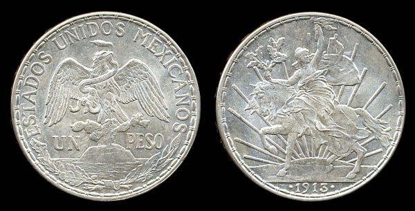 Mexico silver caballito peso coin 1913
