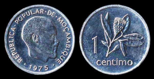 Mozambique 1 centimo coin 1975