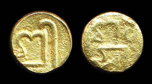 Nepal medieval gold coin