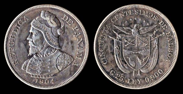 Panama large silver coin 1904