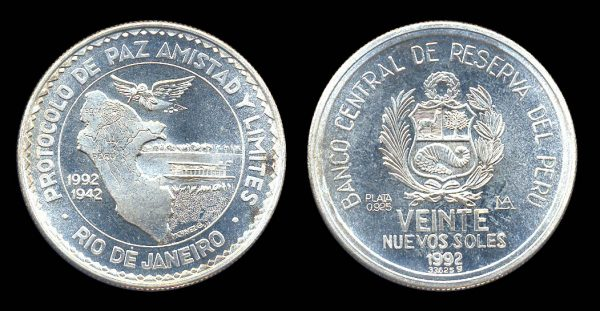 Peru silver commemorative coin 1992