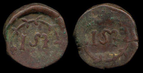 Sri Lanka, Ceylon, seventeenth century thick copper stuiver coin