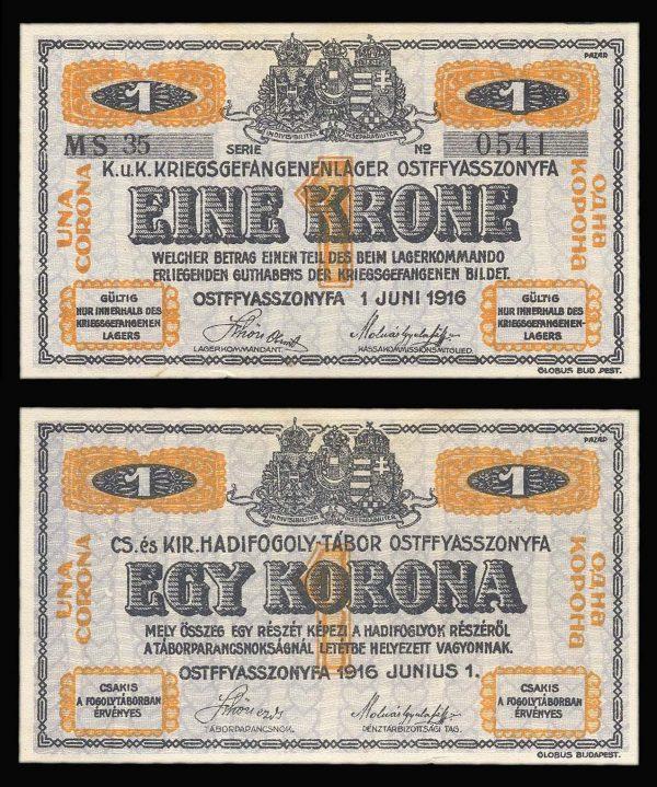 Austria pow ostffazzzonfya 1 krone