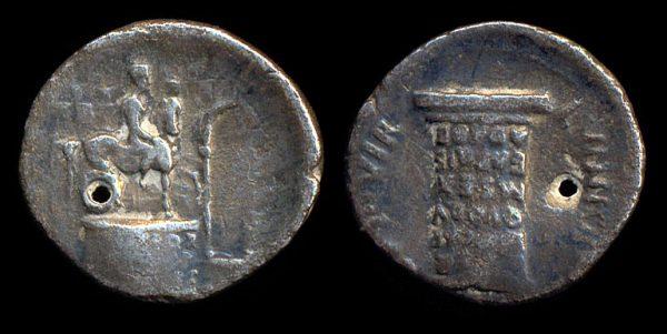ROMAN EMPIRE, Augustus, 27 BC - 14 AD, silver, denarius