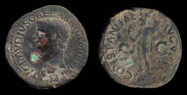 ROMAN EMPIRE, Claudius, 41-54 AD, bronze, as