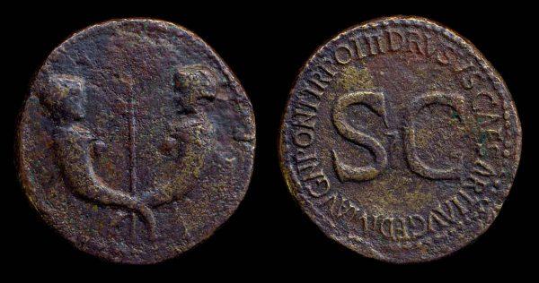 ROMAN EMPIRE, Drusus, 23 AD, brass, sestertius