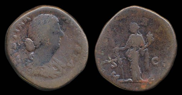ROMAN EMPIRE, Faustina Jr., 145-175 AD, brass, sestertius