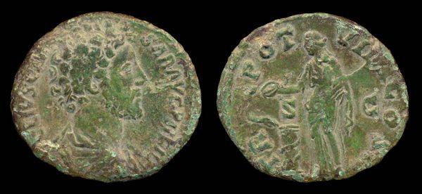 ROMAN EMPIRE, Marcus Aurelius, Caesar, 139-161 AD, bronze, as