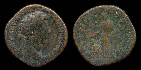 ROMAN EMPIRE, Marcus Aurelius, 161-180 AD, brass, dupondius