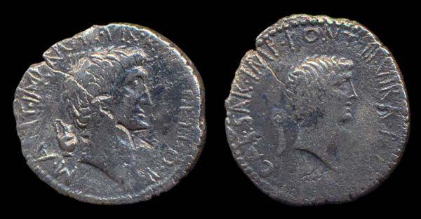 ROMAN REPUBLIC, Mark Antony & Octavian, 41-39 BC, silver, denarius