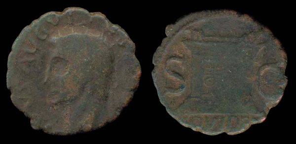 ROMAN EMPIRE, Divus Augustus, bronze, as, barbarous imitation