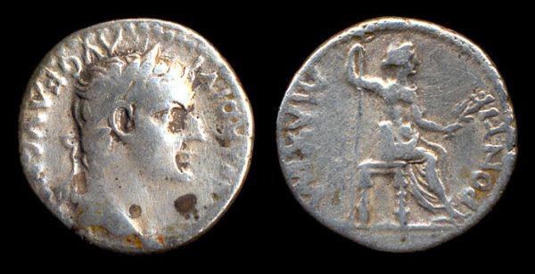 "ROMAN EMPIRE, Tiberius, 14-37 AD, silver, denarius, ""Tribute Penny"""