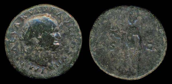 ROMAN EMPIRE, Vespasian, 69-79 AD, bronze, as