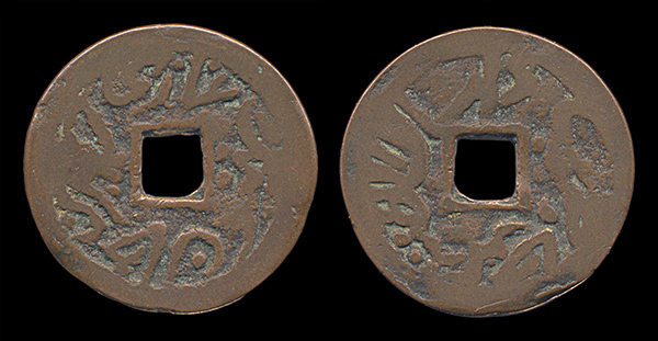 Sinkiang rebel copper coin