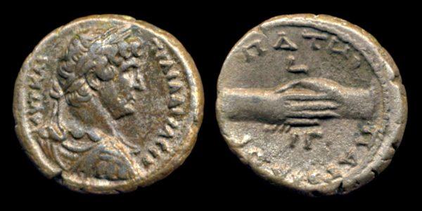 EGYPT, Hadrian, 117-138 AD, tetradrachm