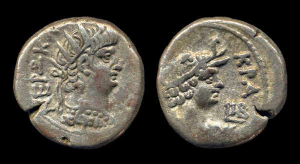 EGYPT, Nero, 54-68 AD, billon, tetradrachm, year 12 (65 AD), Alexandria mint
