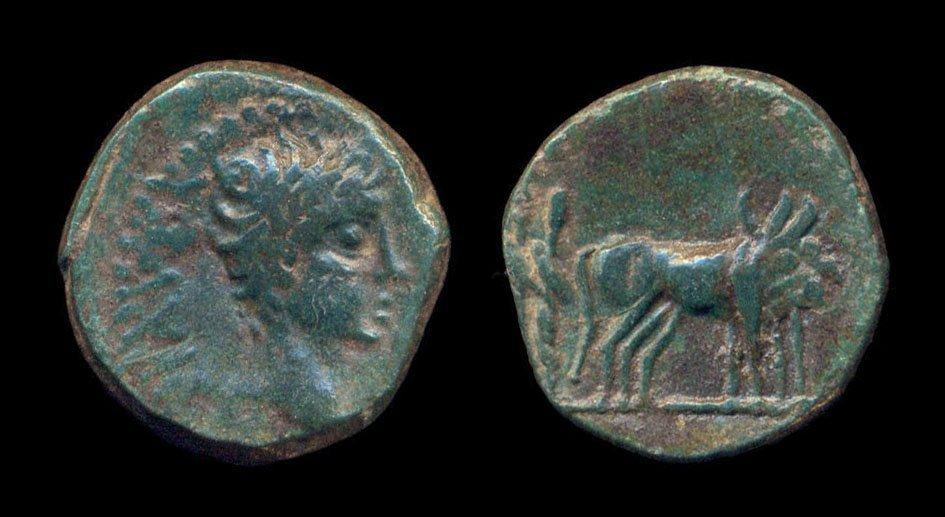 MAKEDON, PHILIPPI, Tiberius, 14-37 AD, bronze