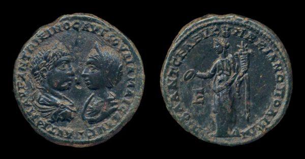 MOESIA INFERIOR, MARCIANOPOLIS, Elagabalus & Julia Maesa, 218-222 AD, bronze, pentassarion