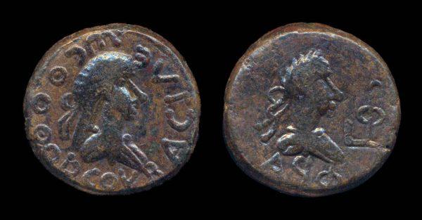 PONTUS & BOSPORUS, Thosthorses, 279-309 AD, bronze, stater, year 591 (294 AD)
