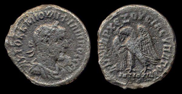 SYRIA: SELEUCIS & PIERIA, ANTIOCH, Philip I, 244-249 AD, billon, tetradrachm, year 3 (248 AD)
