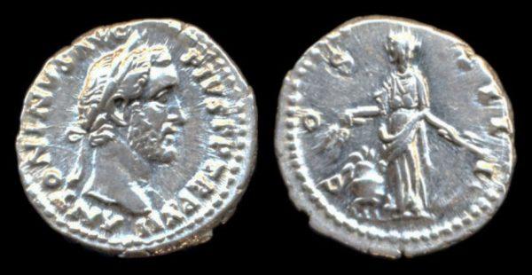 ROMAN EMPIRE, Antoninus Pius, 138-161 AD, denarius